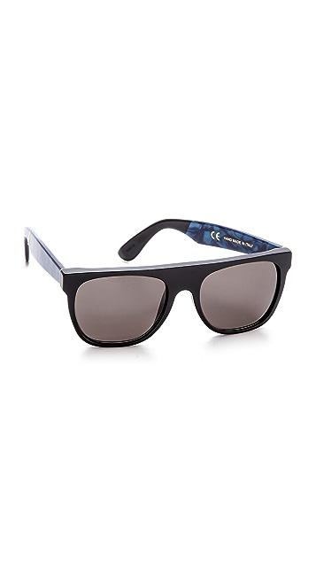 Super Sunglasses Flat Top Supremo Sunglasses