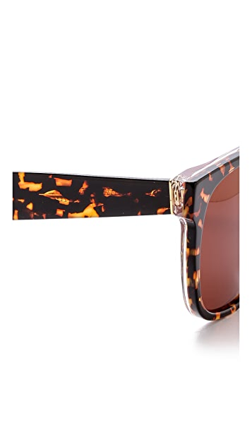 Super Sunglasses Flat Top Screamer Sunglasses
