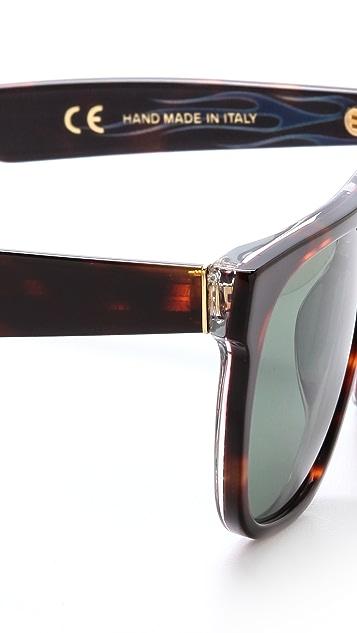Super Sunglasses Flat Top Turbo Sunglasses