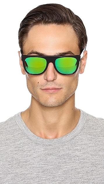 Super Sunglasses Flat Top Cove Sunglasses