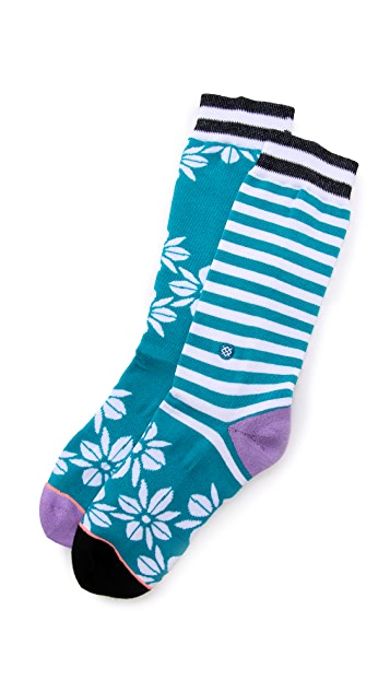 STANCE Casual Hula Flowers Socks