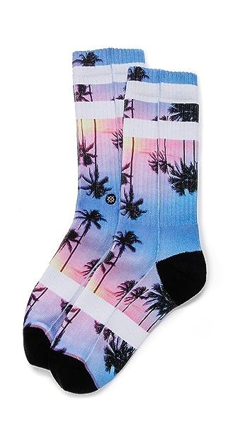 STANCE Athletic Purple Night Socks