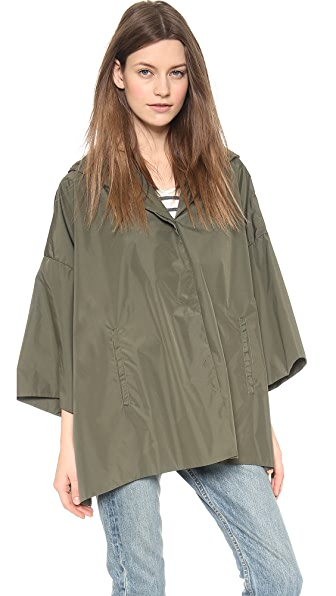 STATEof_ Paperweight Slicker Cape Coat