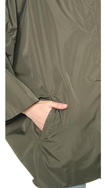 STATEof_ Paperweight Slicker Cape Coat