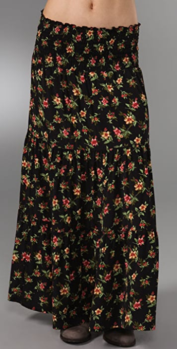 state & lake Long Flutter Skirt