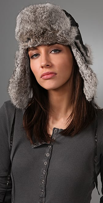 state & lake Quilted Fur Trapper Hat