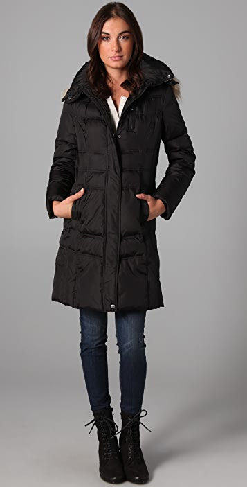 state & lake Mercy Jacket with Fur Trim