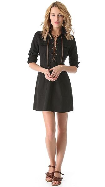 state & lake Lace Up Dress