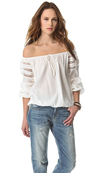 state & lake Off Shoulder Blouse