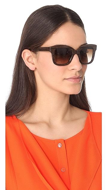 Stella McCartney Thick Square Sunglasses