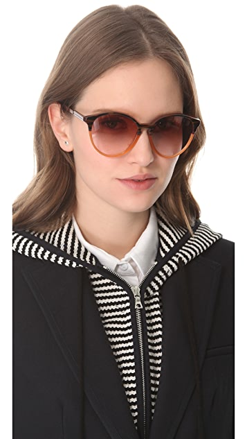 Stella McCartney Oversized Round Sunglasses