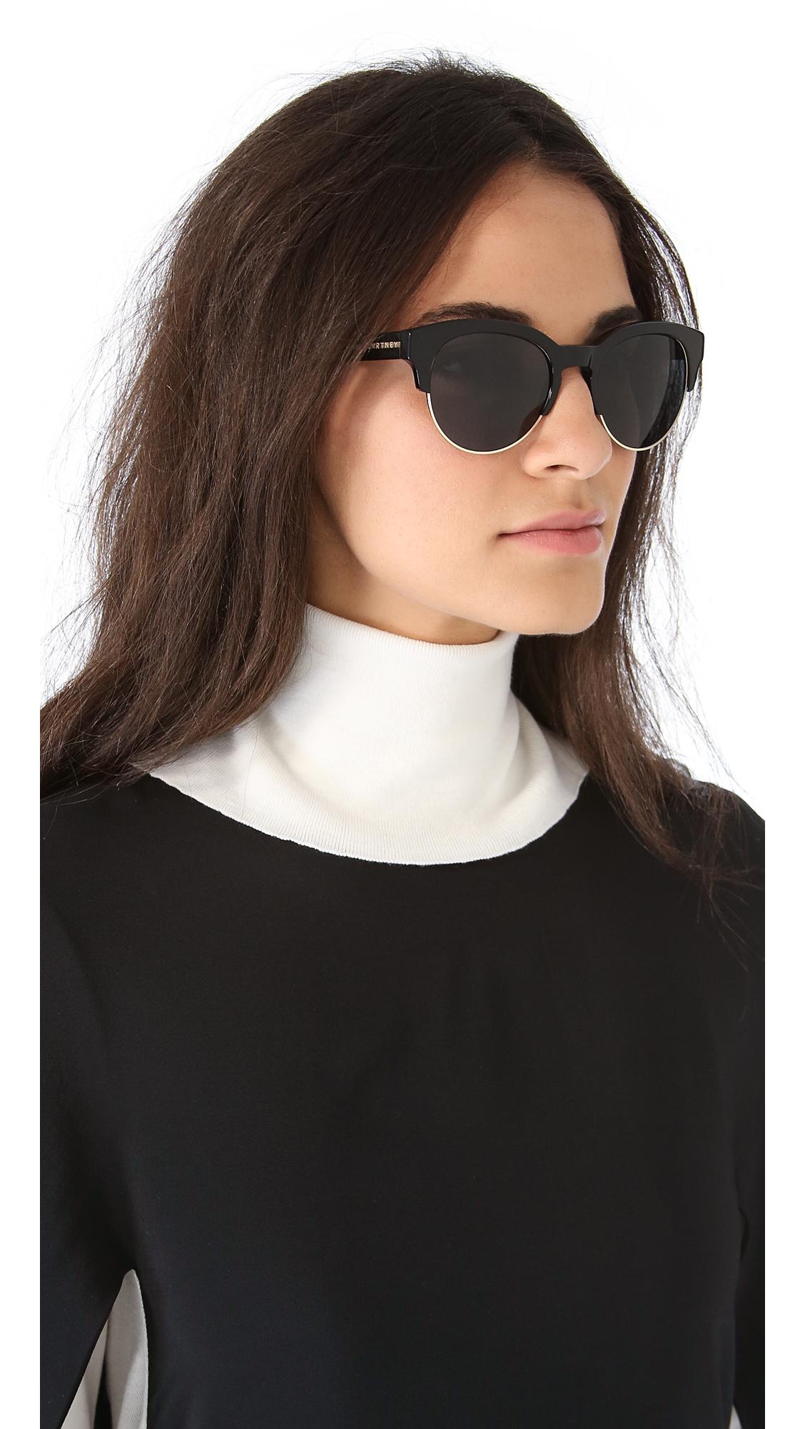 9ba5f8263bc65 Stella McCartney Oversized Round Sunglasses with Rimless Bottom ...