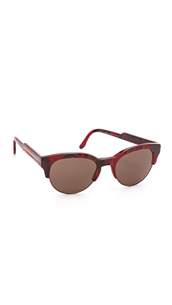 Stella McCartney Oversized Round Rimless Sunglasses