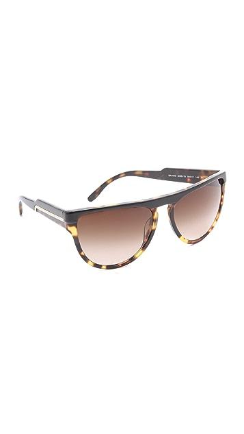 Stella McCartney Flat Top Oversized Sunglasses