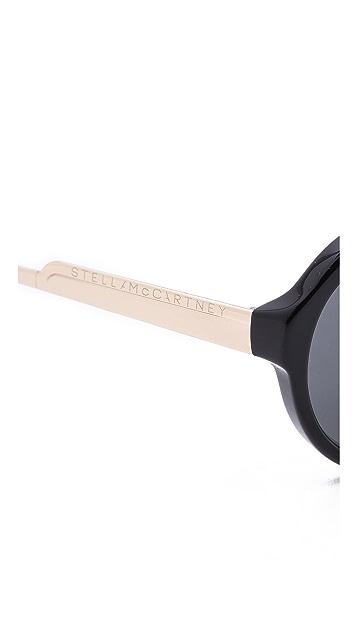 Stella McCartney Keyhole Aviator Sunglasses