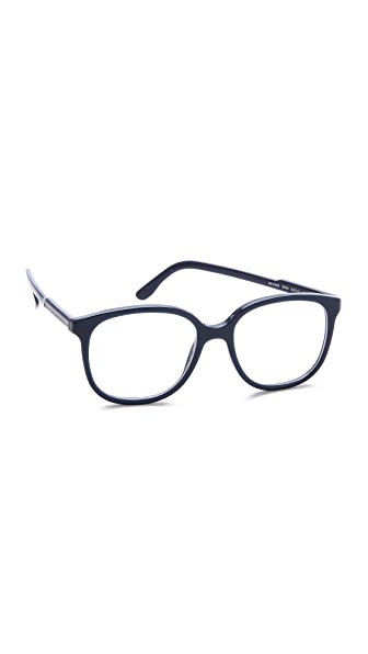 stella mccartney square frame glasses