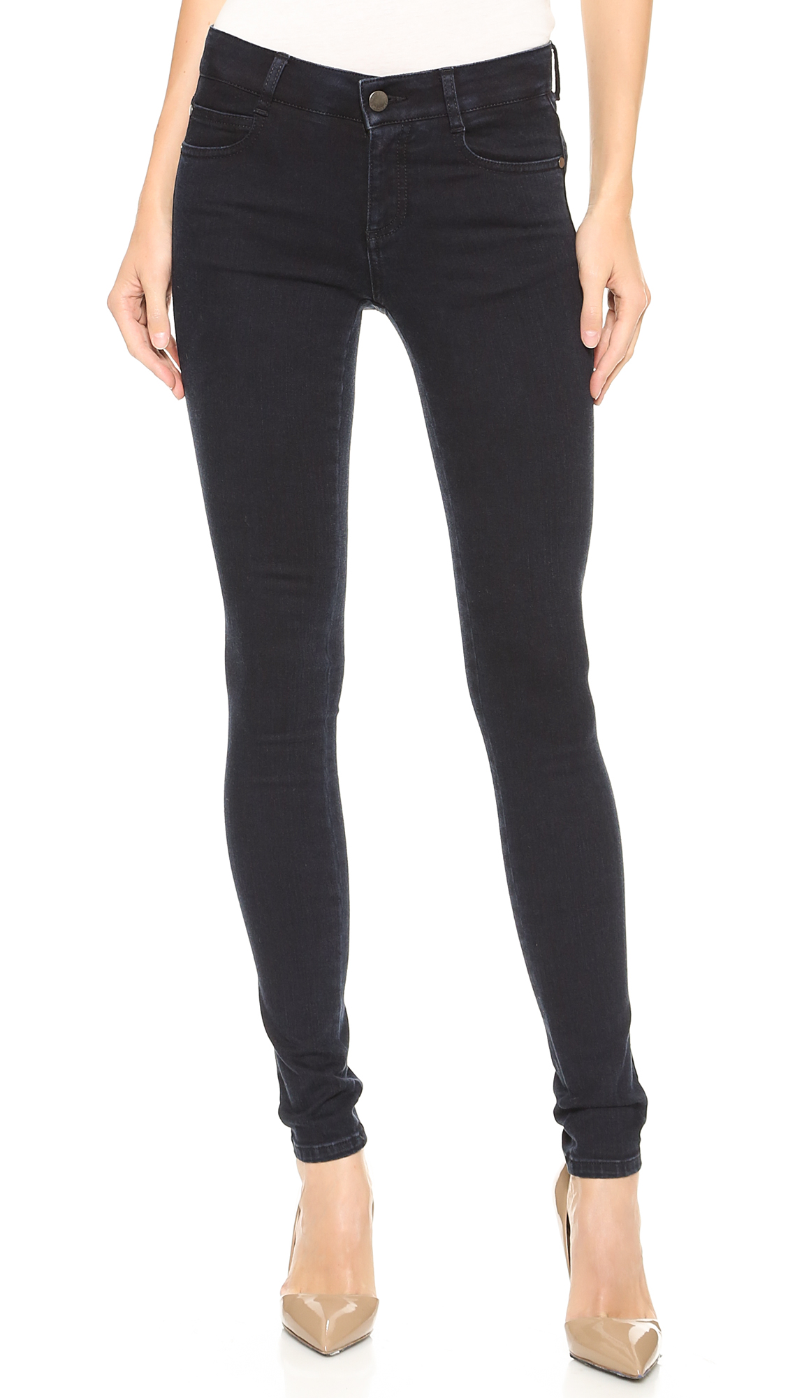 Stella McCartney The Skinny Long Jeans - Blue/Black