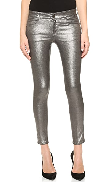 Stella McCartney Metallic Ankle Grazer Jeans