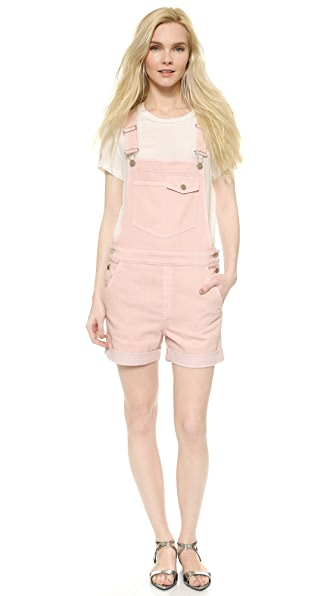 Stella McCartney Denim Overall Shorts