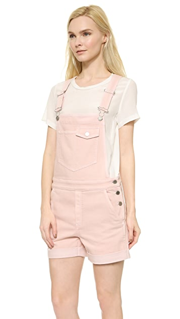 Stella McCartney Denim Overall Shorts