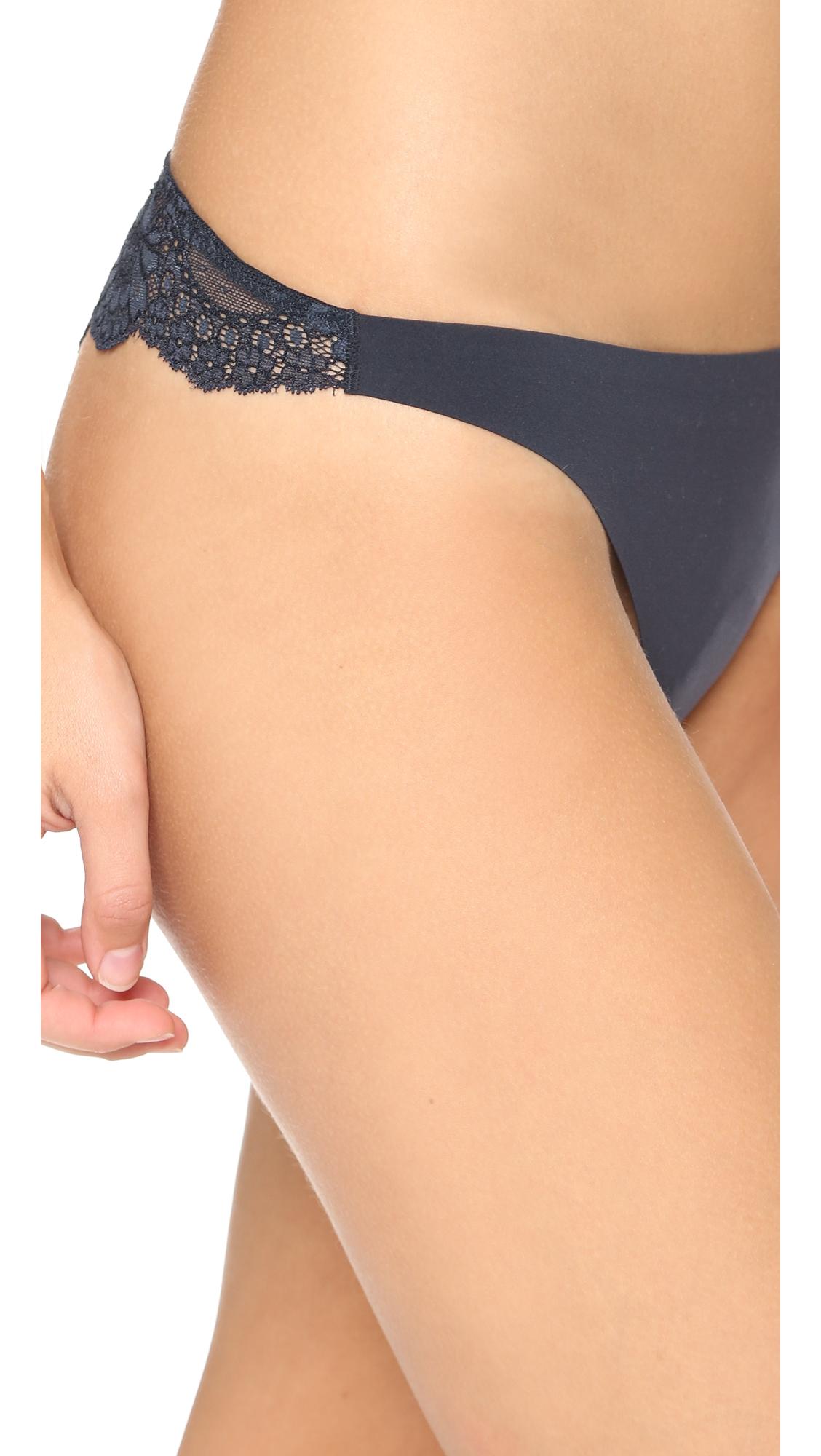 Трусики-танга New Stella из гладкой ткани и кружева Stella McCartney  (STELA2053818793115)