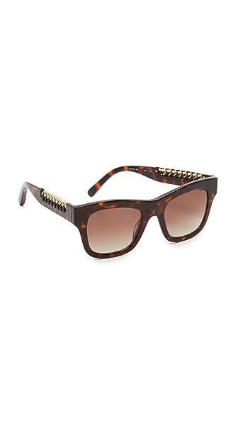Stella McCartney Квадратные солнцезащитные очки с цепочкой