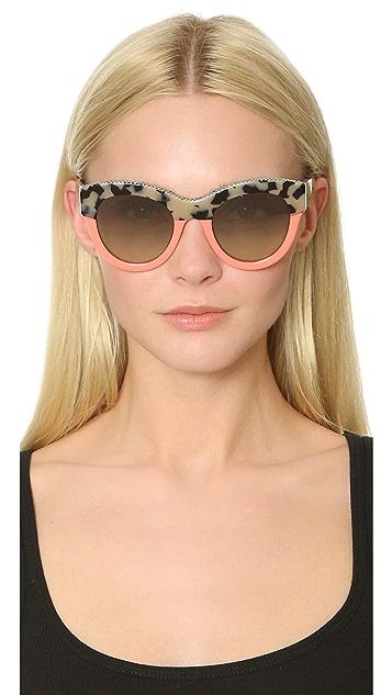 Stella McCartney Chain Colorblock Sunglasses