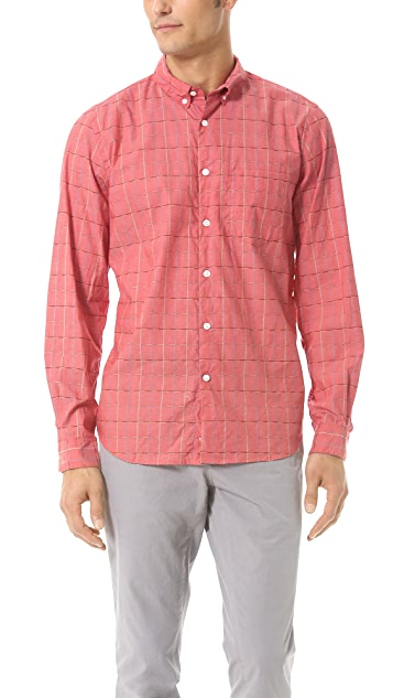 Steven Alan Grid Sport Shirt