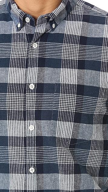 Steven Alan Plaid Sport Shirt