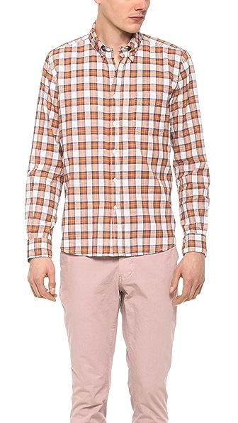 Steven Alan Plaid Classic Collegiate Shirt