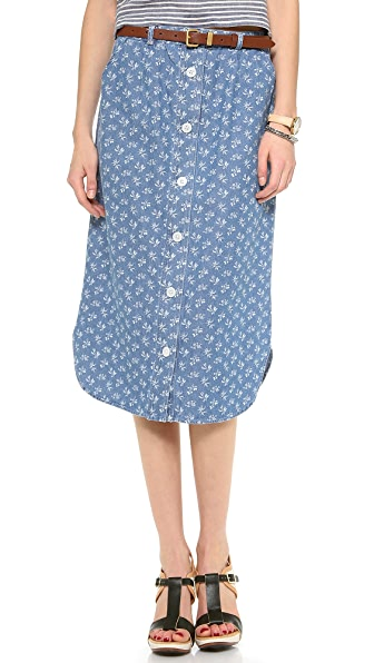 Steven Alan Button Down Skirt