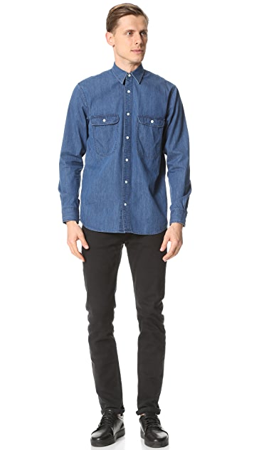 Steven Alan Triple Double Denim Shirt