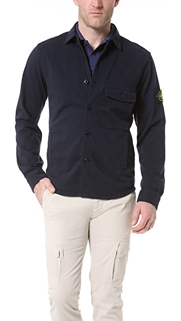 Stone Island Heavy Cotton Shirt Jacket