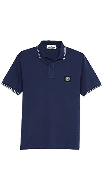 Stone Island Stretch Pique Slim Fit Polo