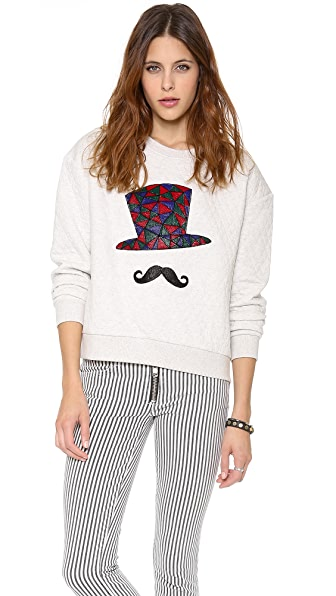Stripe by N Hat Quilt Sweatshirt