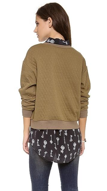 Stripe by N Bear Quilt Sweatshirt