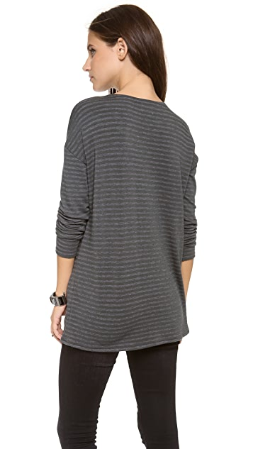 Stripe by N Seal Embroidered T-Shirt