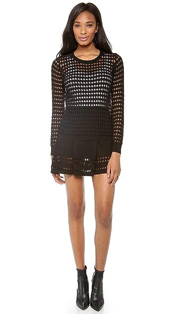 STYLESTALKER Holed Out Skirt