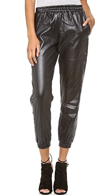 STYLESTALKER Hoop Dreams Faux Leather Pants