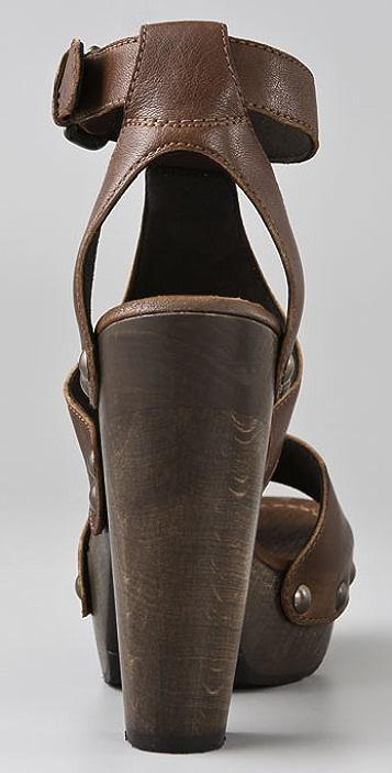 Stuart Weitzman Apron Gladiator Clog Sandals