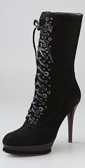 Stuart Weitzman Nogoth Suede Lace Up Boots