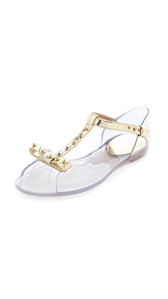 Stuart Weitzman Nifty Clear Jelly Flats