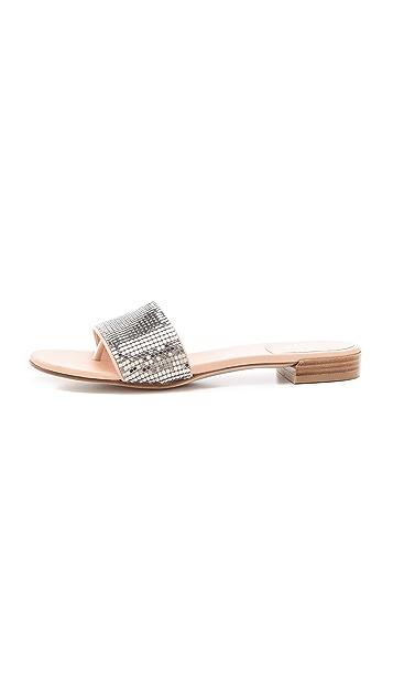 Stuart Weitzman Mailroom Chainmail Slide Sandals