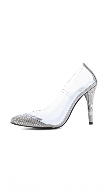 Stuart Weitzman Cindy Crystal Evening Pumps