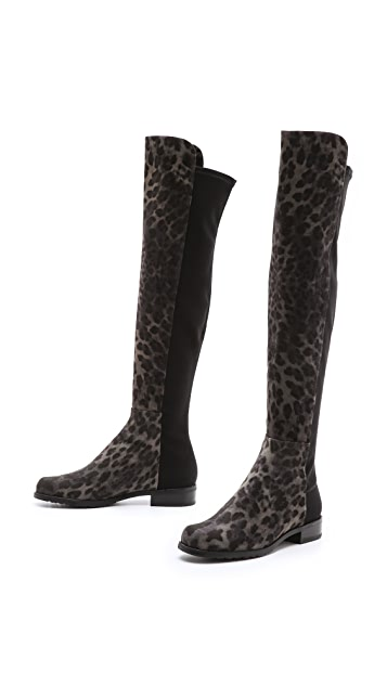 Stuart Weitzman 5050 Leopard Stretch Boots