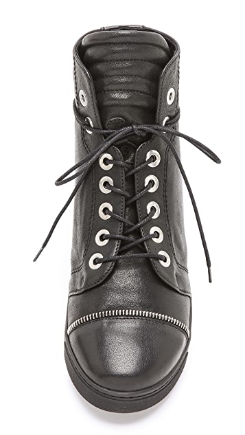Stuart Weitzman Zipit Lace Up Sneakers
