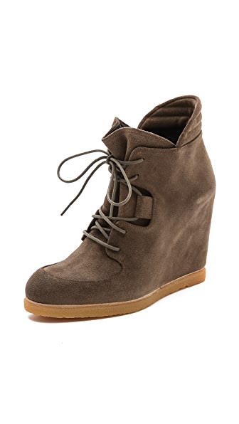 Stuart Weitzman Kidstuff Wedge Lace up Booties