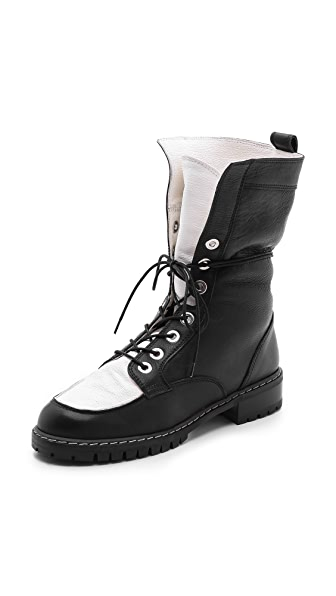 Stuart Weitzman Workout Lace Up Boots