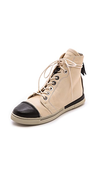 Stuart Weitzman Zipit Captoe High Top Sneakers
