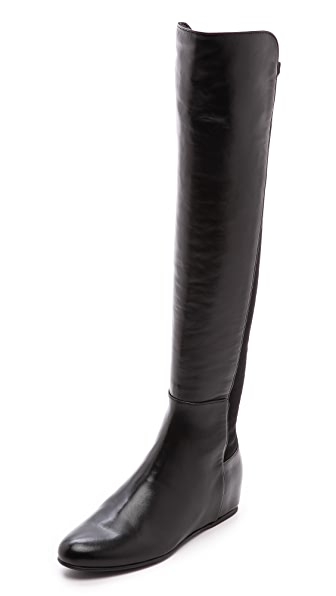 Stuart Weitzman Mainline Hidden Wedge Boots